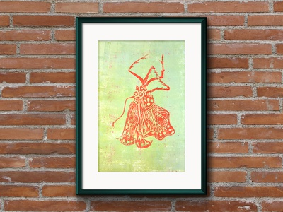 Released 2 life cycle monarch butterfly metamorphosis nature caterpillar illustration lino print