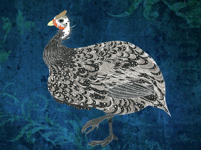 Proud Guinea Fowl