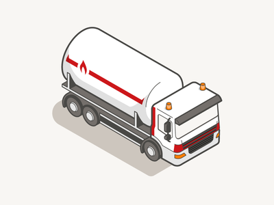 Isometric truck vehicle illustration truck isometric