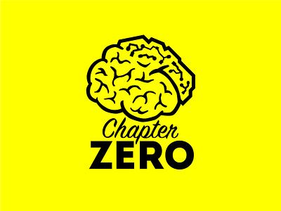 Chapter Zero logo lobes yellow retro typography brain branding logo