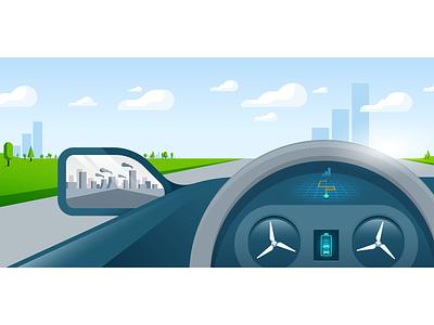 Electric car renewable energy electric car car illustration