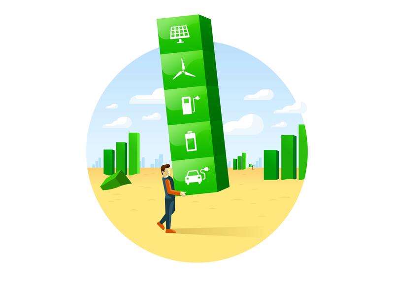 Faraday Keys illustration renewable energy illustration