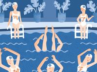 Synchronized Calendar Swimmers
