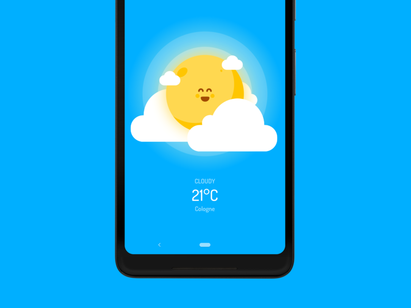 Wakey's Weather Forecast - Cloudy forecast weather cloudy android wakey vector cute alarm clock