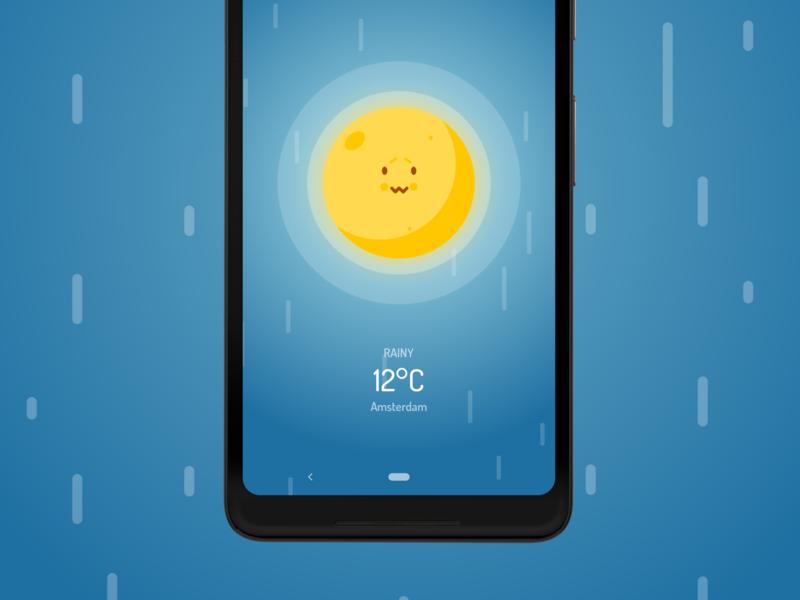 Wakey's Weather Forecast - Rainy forecast weather rainy android wakey vector cute alarm clock