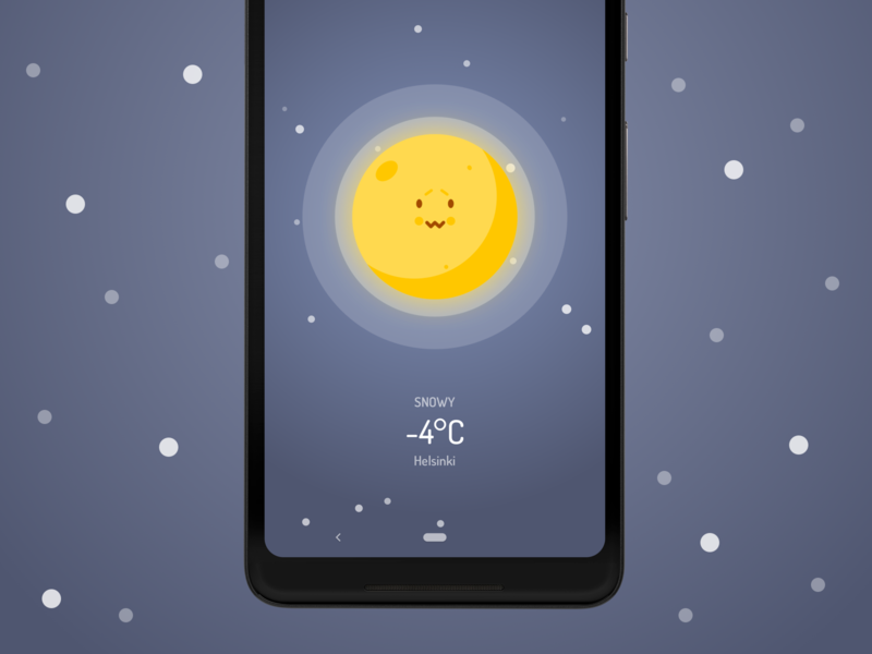 Wakey's Weather Forecast - Snow vector snow forecast weather wakey android alarm clock