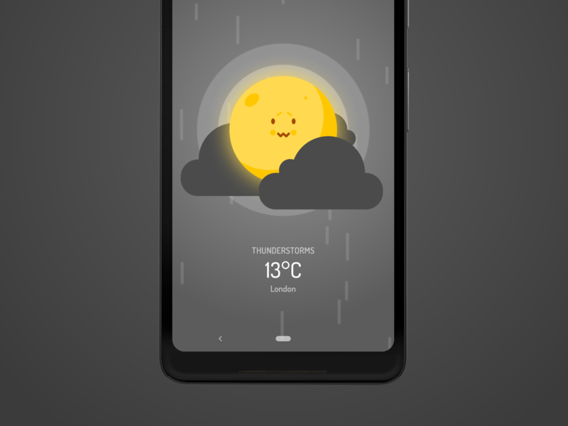 Wakey's Weather Forecast - Thunderstorms awesome gentle forecast weather cute android alarm clock