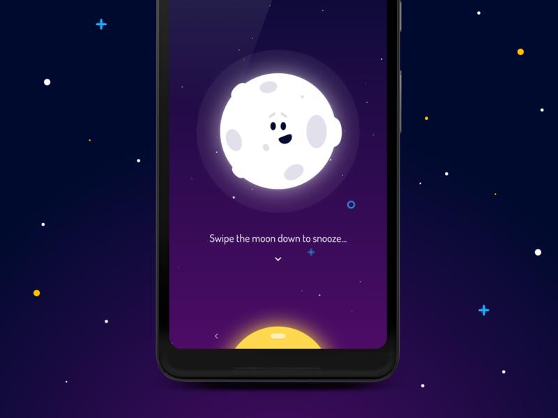 Wakey Alarm Clock - Snooze Alarm animation tutorial snooze ui design vector gentle cute wakey alarm clock android app