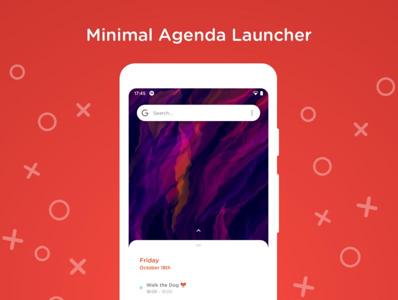 Minimal Agena Launcher android launcher app calendar agenda focus home screen minimalistic ui