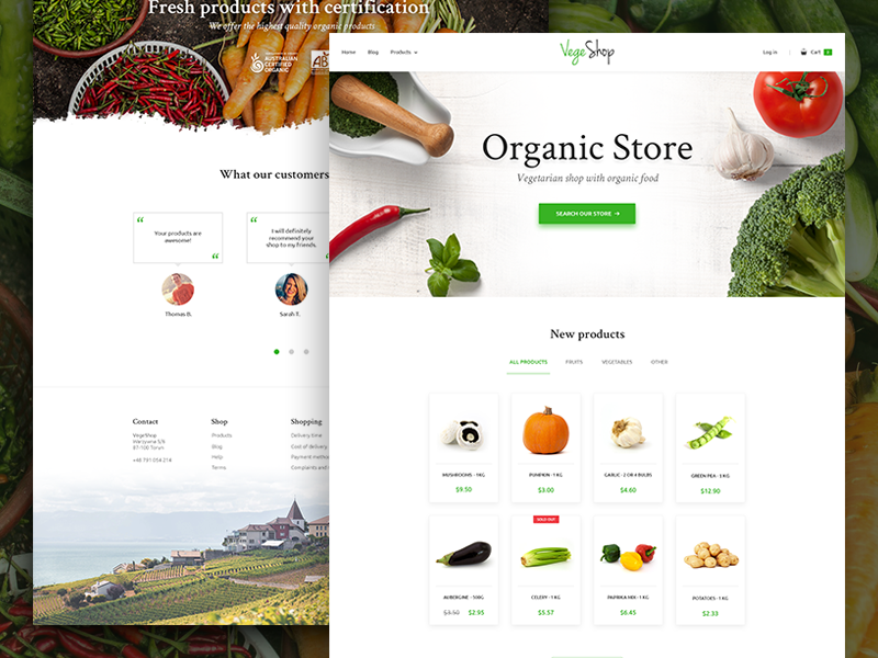 1a82d4e3d Vegetarian Shop - UI/UX Design typography website e-commerce ux ui design  home