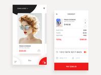 Prada Mobile Shop Concept, Credit Card Checkout - Daily UI #002