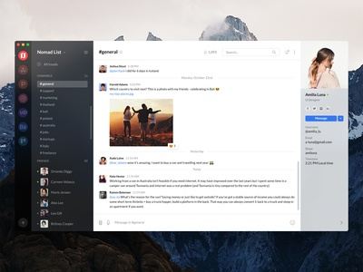 Freebie - Chat Desktop App macOS (PS, Sketch, Adobe XD, Figma)