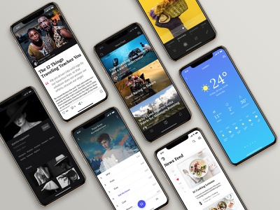Awesome iOS UI Kit marketplace sign up multimedia social walkthroughs travel icons mobile app stats profile navigation ecommerce blog ui design ux design templates iphone mobile ios ui kit