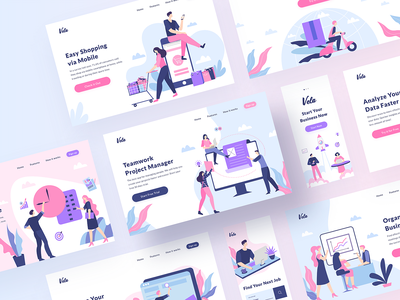 Vela Illustration Library I ui8 illustrator illustraion design system ui kit creator library ios package vector startup svg adobe xd figma sketch mobile web ui templates scenes illustrations