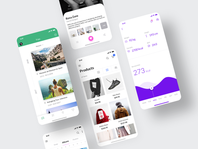 Awesome iOS UI Kit III chart mobile ui ui elements albums ecommerce ui kits trips app fitness stats profile travel templates ui8 figma sketch iphone ios mobile ui kit