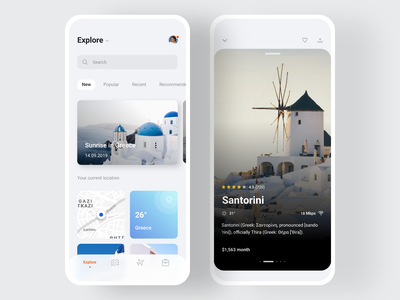🎒Nomad iOS UI Kit with Design System I trips trip weather jobs map flights country city templates traveling explore iphone ios app travel mobile ui kit sketch figma ui8