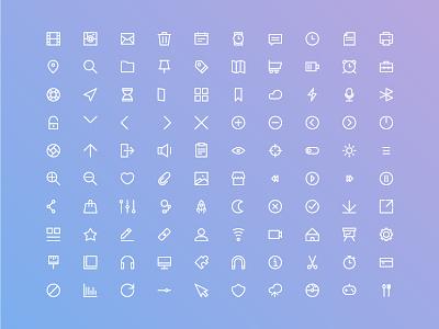 Basic Ui Set. free icons vector stroke flat infography web design app ux ui iconography icon