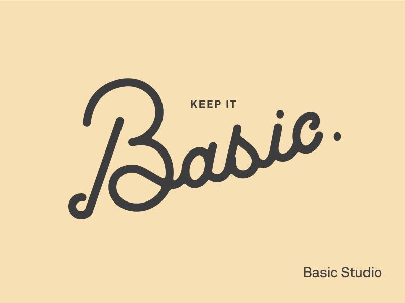 Basic Studio. script design studio graphic illustration letterin basic