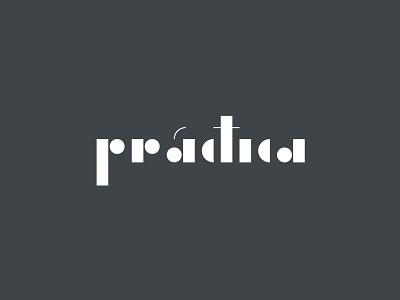 Práctica letters bauhaus geometric logotype brand logo architecture
