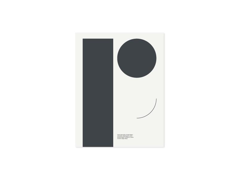 Práctica Contextual grid editorial bauhaus geometric typography type letter p poster