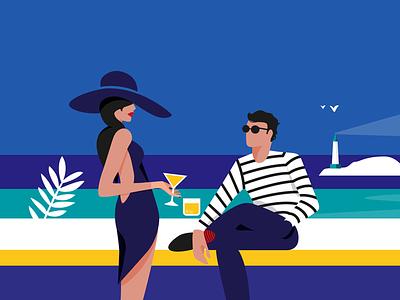 Creative people vector illustration elegant malika favre illustration french illustration stripes