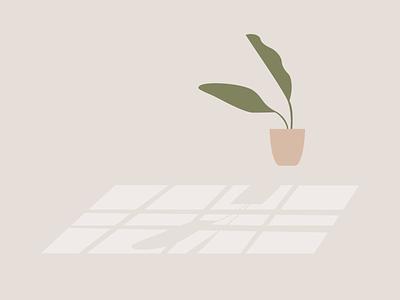 Plant. plants green flat window shadow lighting light illustration plant