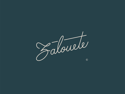 Zalouete. logo design logotype lettering art skin care skincare lettering logo logo letterin