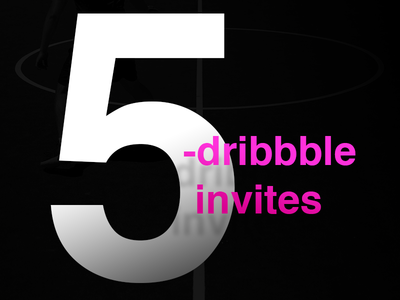 5 Dribbble Invites Giveaway