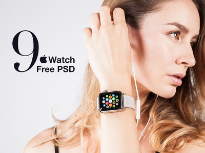9 Free Apple Watch Mockup lifestyle free mockup freebies watch apple
