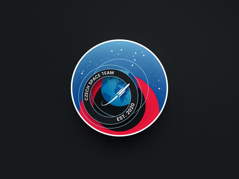 Czech Space Team Logo Badge