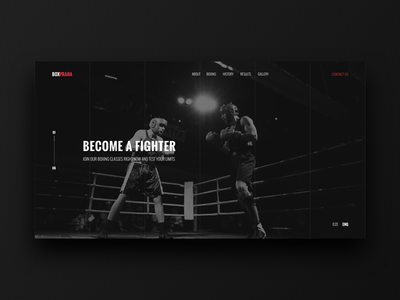 Boxing Club website concept