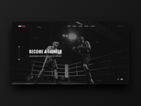 Boxing Club website concept