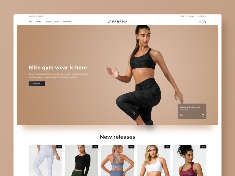 Fitness eshop concept