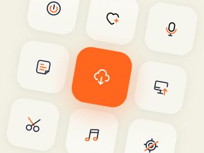 icon 上传 话筒 音乐 喜欢 下载 应用 app 图标 向量 设计 ui