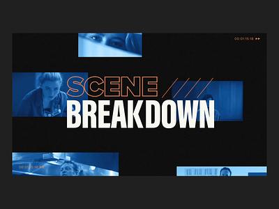 Scene Breakdown branding ui scene breakdown