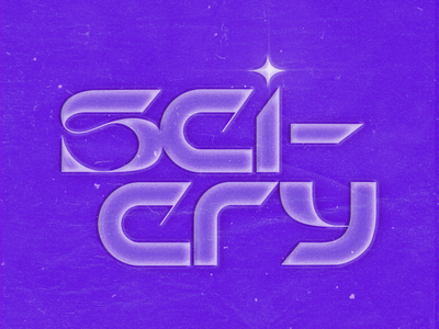 SCI-CRY typography scifi