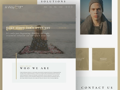 Away Out Recovery html css wordpress web design
