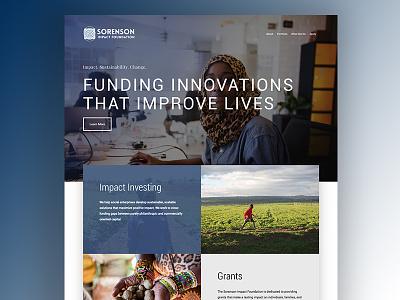 Sorenson Impact Foundation css html web design wordpress