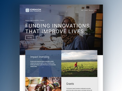 Sorenson Impact Foundation css html web design wordpress