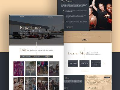 Top Shelf Travel adobe photoshop web design