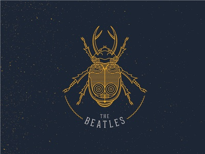 The Beatles beatles beetle thebeatles lines yellow blue logo