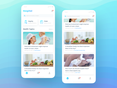Medical app cards neumorphism care hospital patient doctor medical ux mobile ui