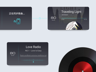 Fun icon music radio app radio music app music player hud ux ui