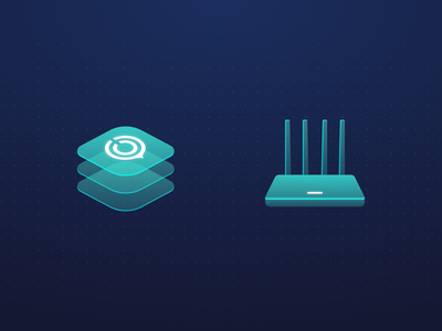 Plugins & Router uu technology logo router plugin data illustration icon ui