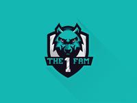 The1fam with shield // Mascot Logo Design