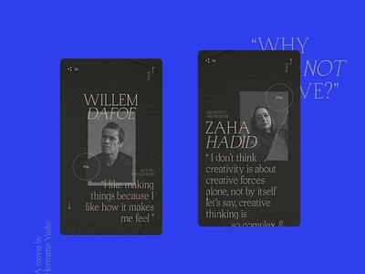 WAYNC/WAYC Double documentary colors branding typography logo motion design minimalistic ui animation type