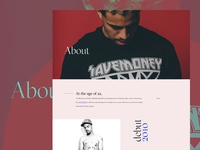 Editable template for the about page