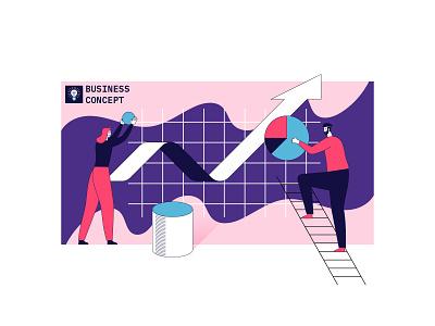 Business concept illustration flat design vector illustration graphic design