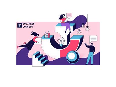 Business concept illustration flat artwork design art vector illustration graphic design