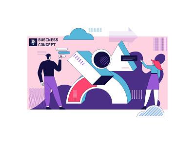 Business concept illustration flat art vector illustration graphic design